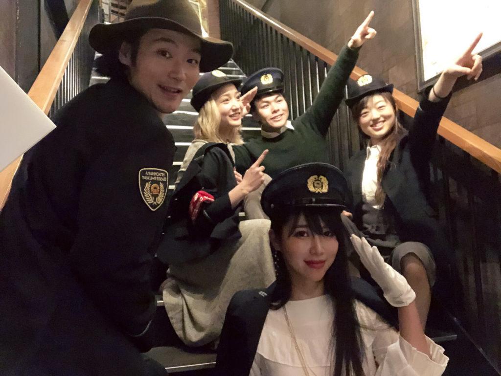 みんなでひたちなか海浜鉄道の制服を着てみる@secret GATE & CAFE