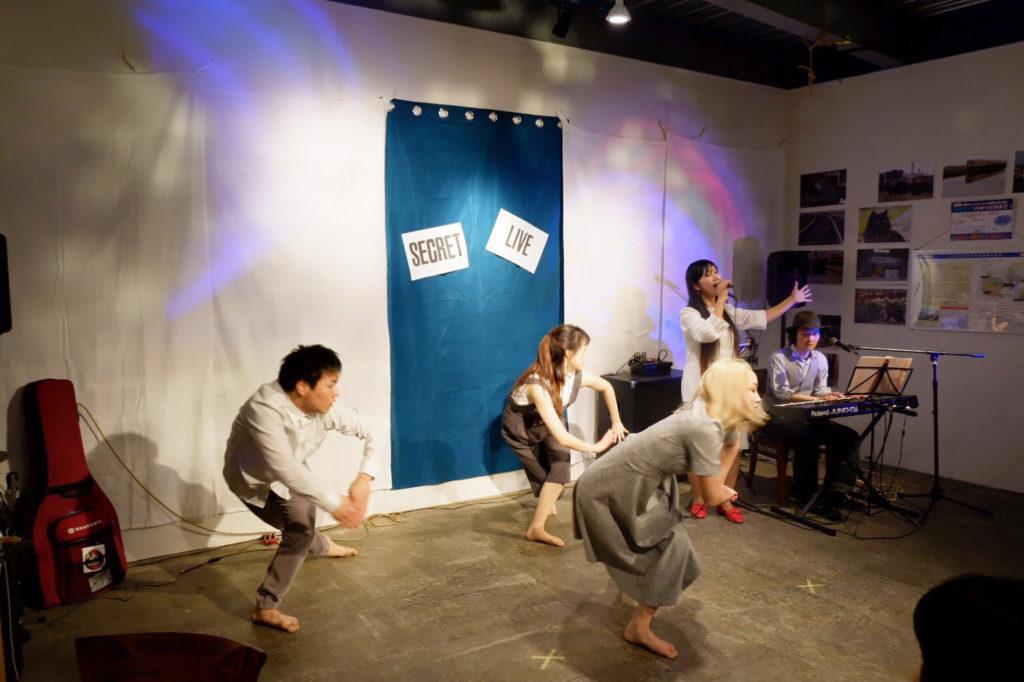 secretliveオニツカサリー&原田英明&筑波大学ダンス部パート3@secret GATE & CAFE
