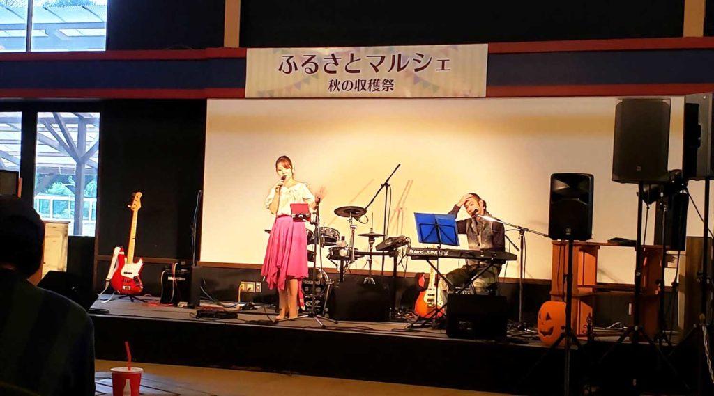 ふるさとマルシェ秋の収穫祭。江戸崎かぼちゃ大使Rosy&原田英明@こもれび森のイバライド